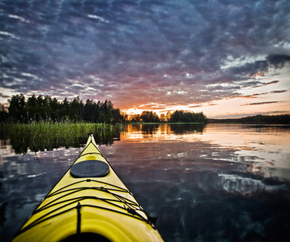 kayaking-trails-near-Log Cabin Resort