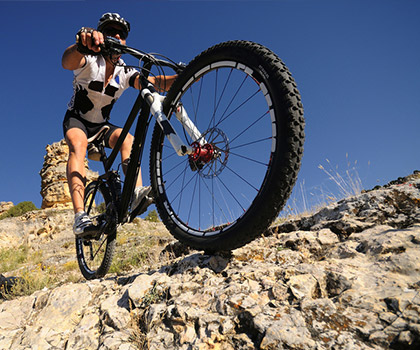 mountain-bike-trails-near-Riva - Rund um den Ledrosee - Rifugio al Faggio