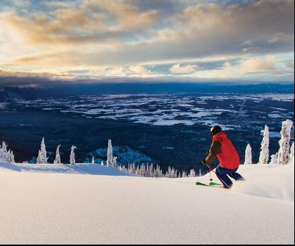skiing-trails-near-Whitefish Resort at Big Mountain